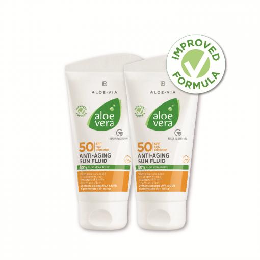 Aloe Vera Sun Anti-aging fluid LSF 50 Séria 2 ks