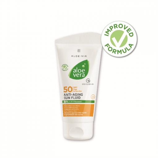 Aloe Vera Sun LSF 50 Anti-aging fluid